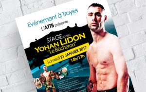 Affiche stage kickboxing K-1, Troyes, Yohan Lidon, Muaythai, à Troyes, Dany Coquet